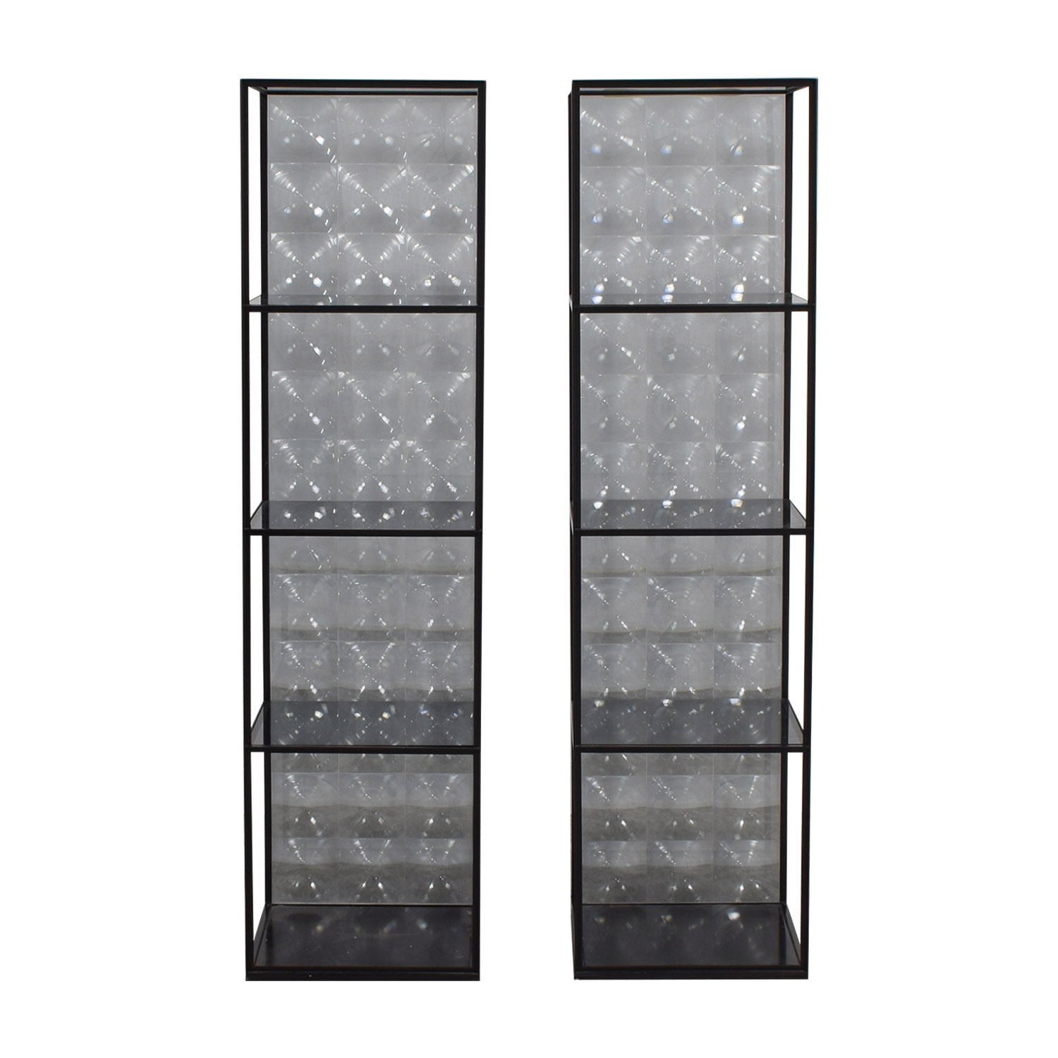 B & B Italia B & B Italia Glass Lens Shelves Black
