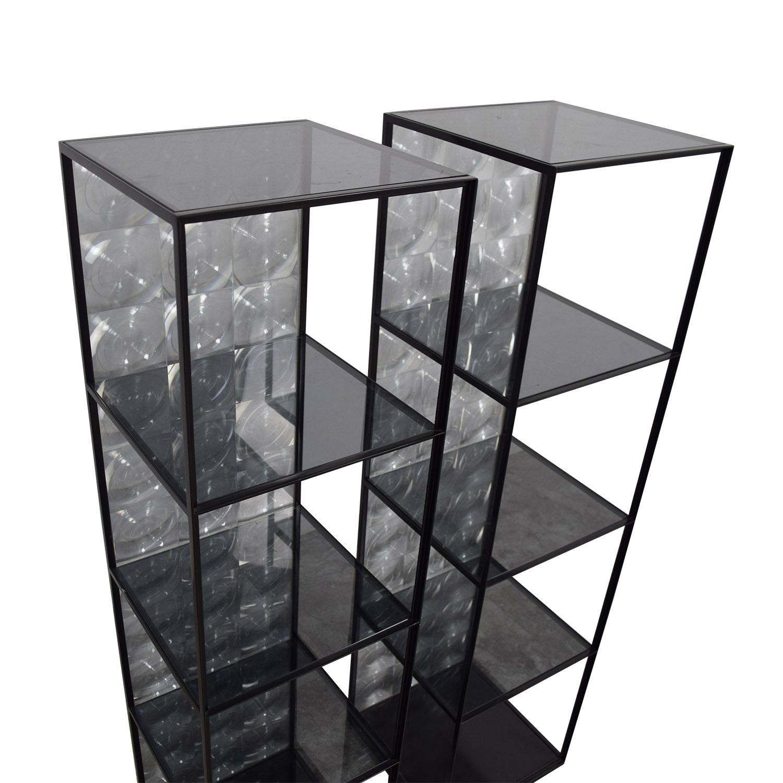 82% OFF - B & B Italia B & B Italia Glass Lens Shelves / Storage