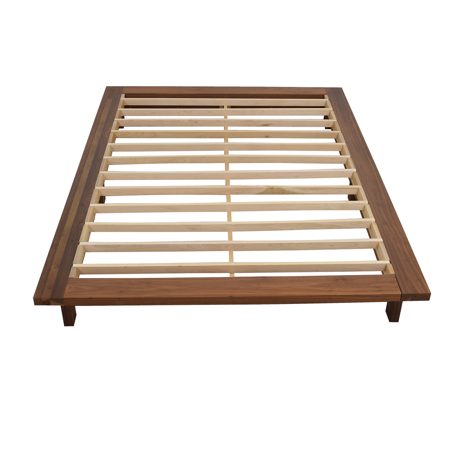 Room & Board Room & Board Campo Queen Walnut Platform Bed Frame second hand