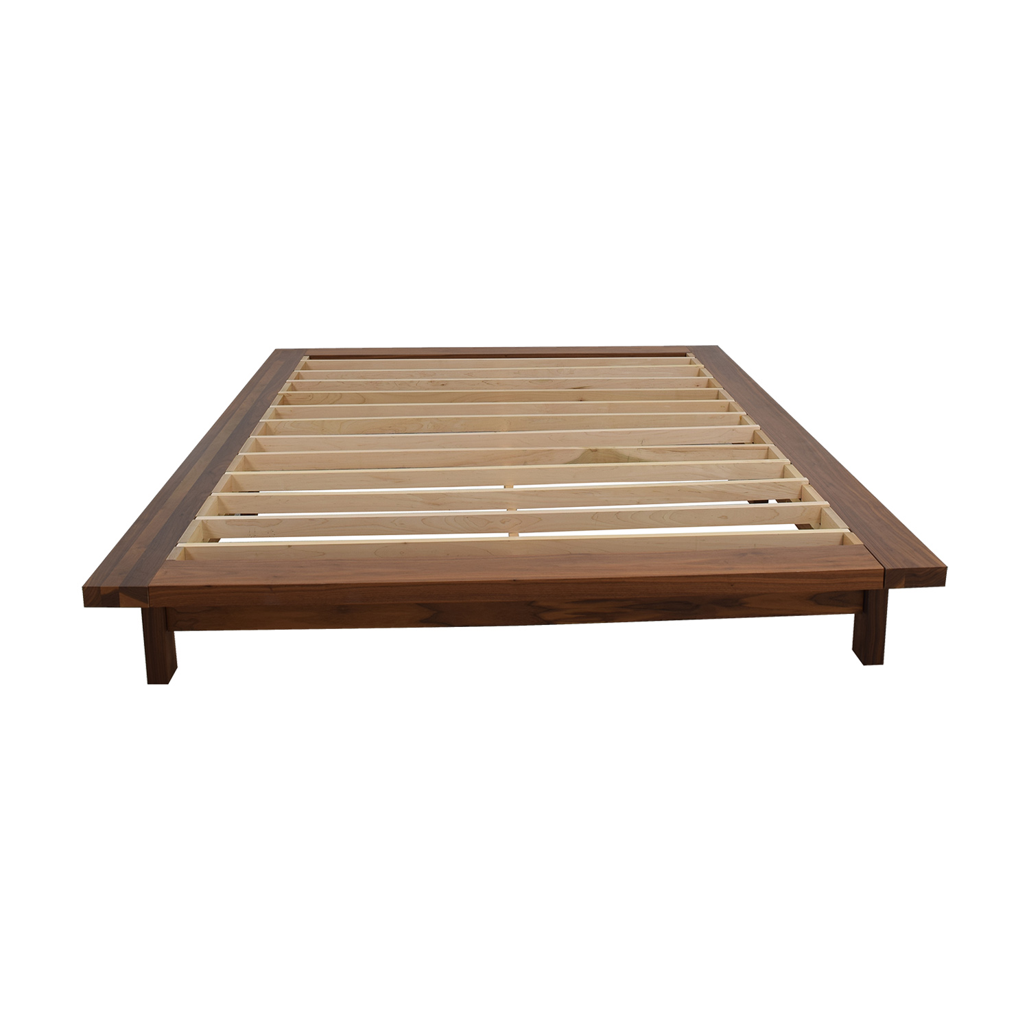 Room & Board Room & Board Campo Queen Walnut Platform Bed Frame discount