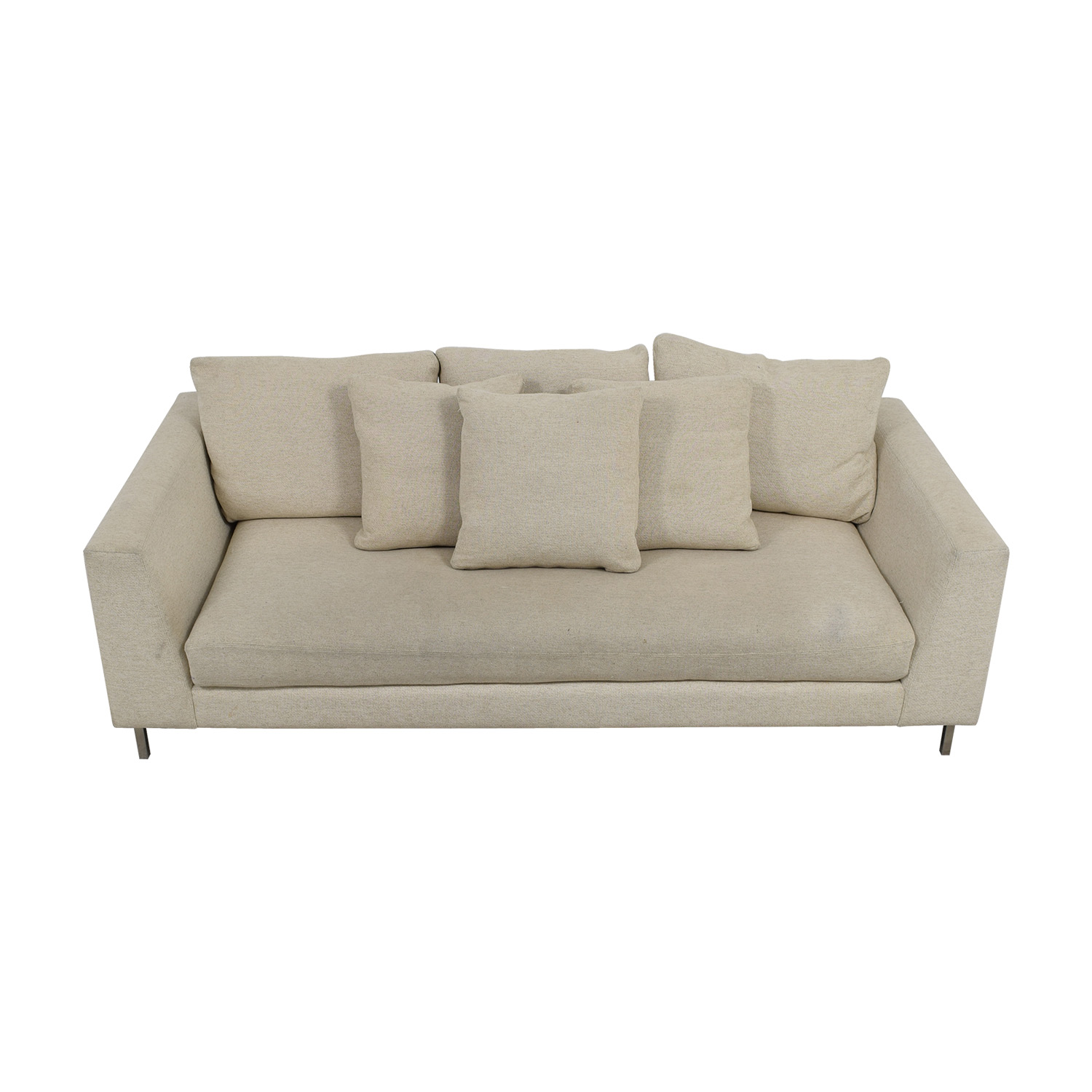 Room & Board Hayes Beige Single Cushion Sofa / Classic Sofas