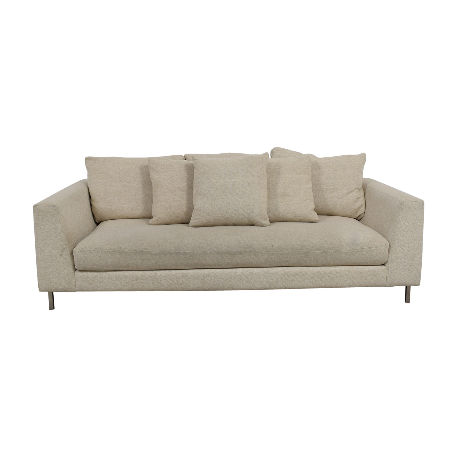 Room & Board Room & Board Hayes Beige Single Cushion Sofa coupon
