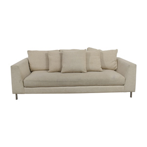 buy Room & Board Hayes Beige Single Cushion Sofa Room & Board