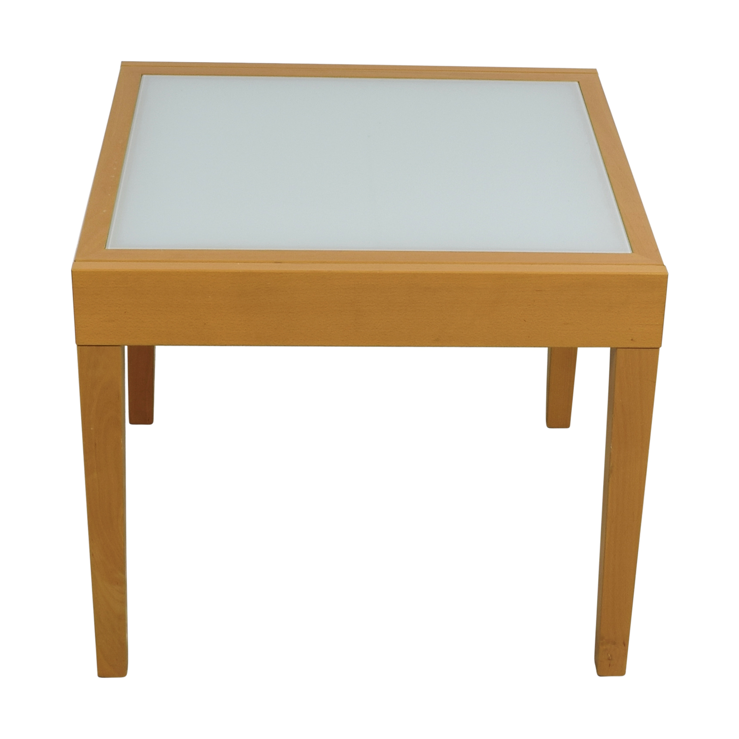Design Within Reach Design Within Reach Spanna Extending Pine Wood and Glass Dining Table