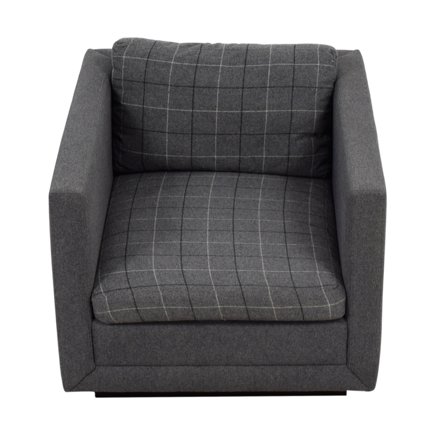 Jonathan Adler Jonathan Adler Blakeley Grey Plaid Accent Chair discount