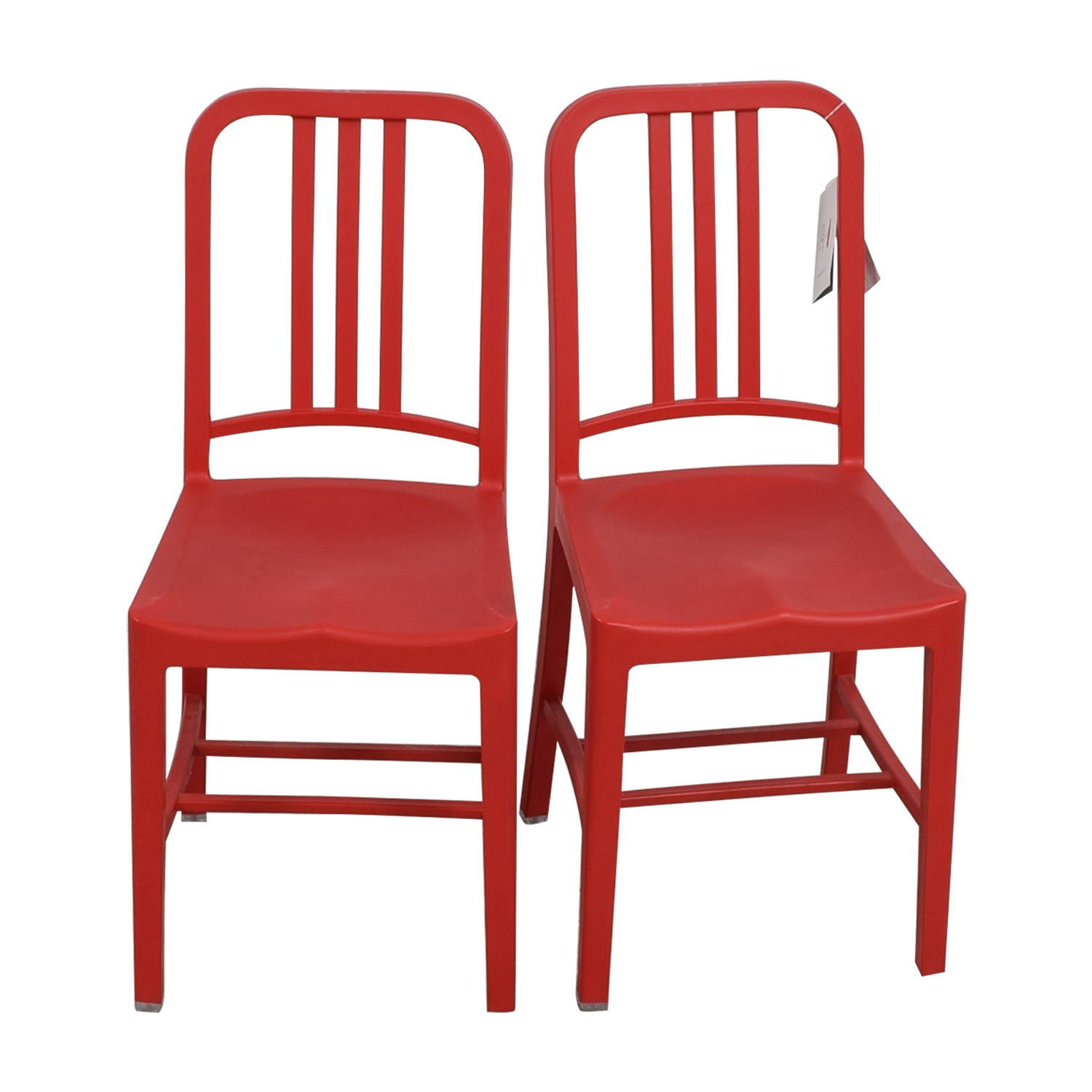 Emeco 111 Navy Recycled Red Chairs / Dining Chairs