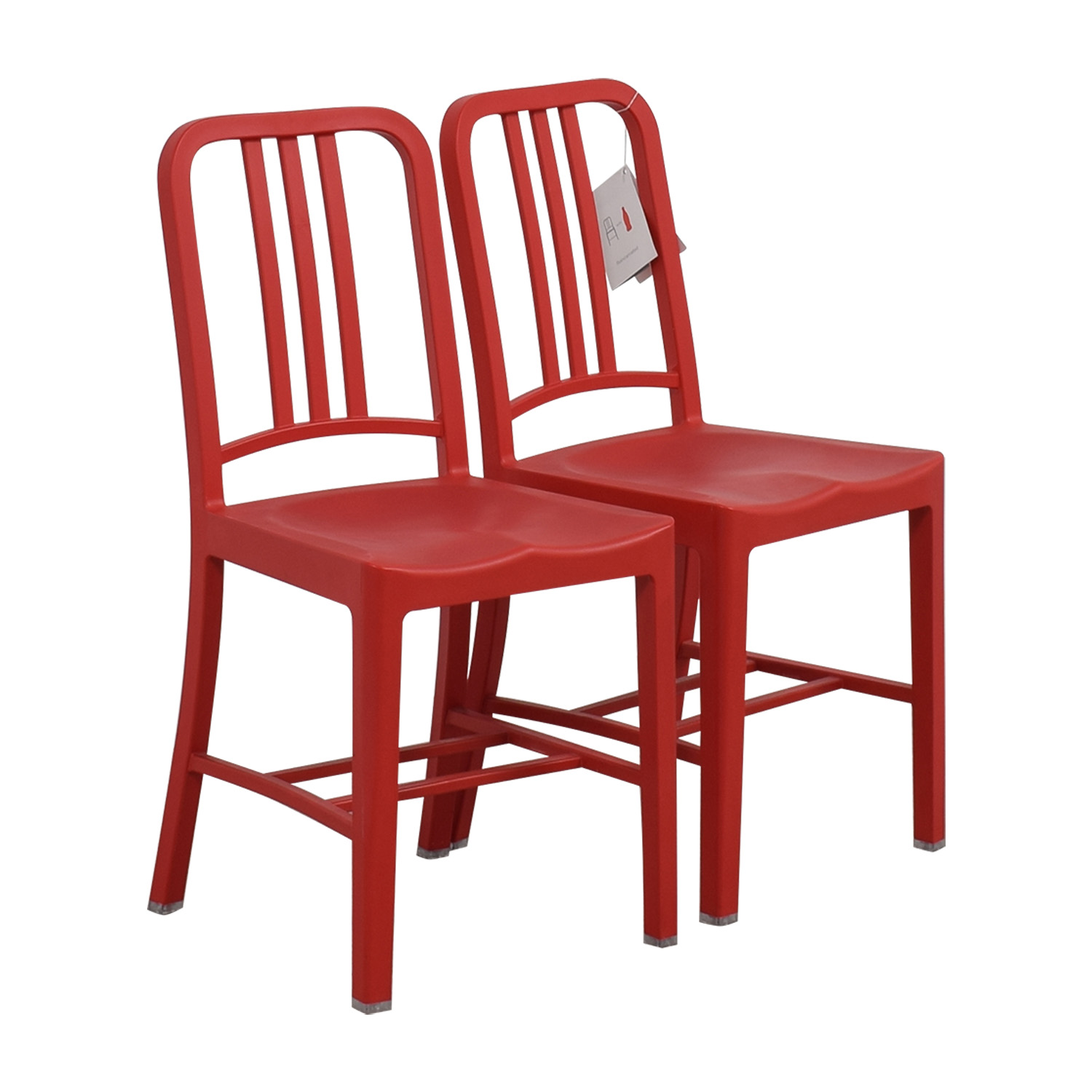 Emeco 111 Navy Recycled Red Chairs Emeco