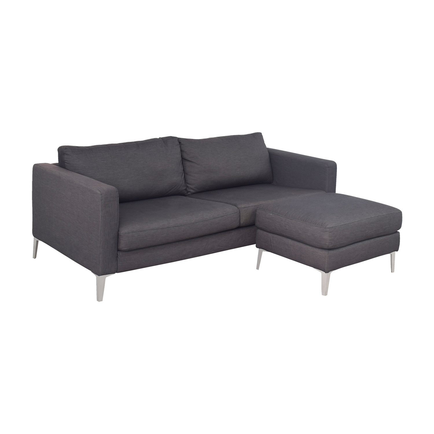 44 Off Ikea Ikea Karlstad Grey Couch And Ottoman Sofas