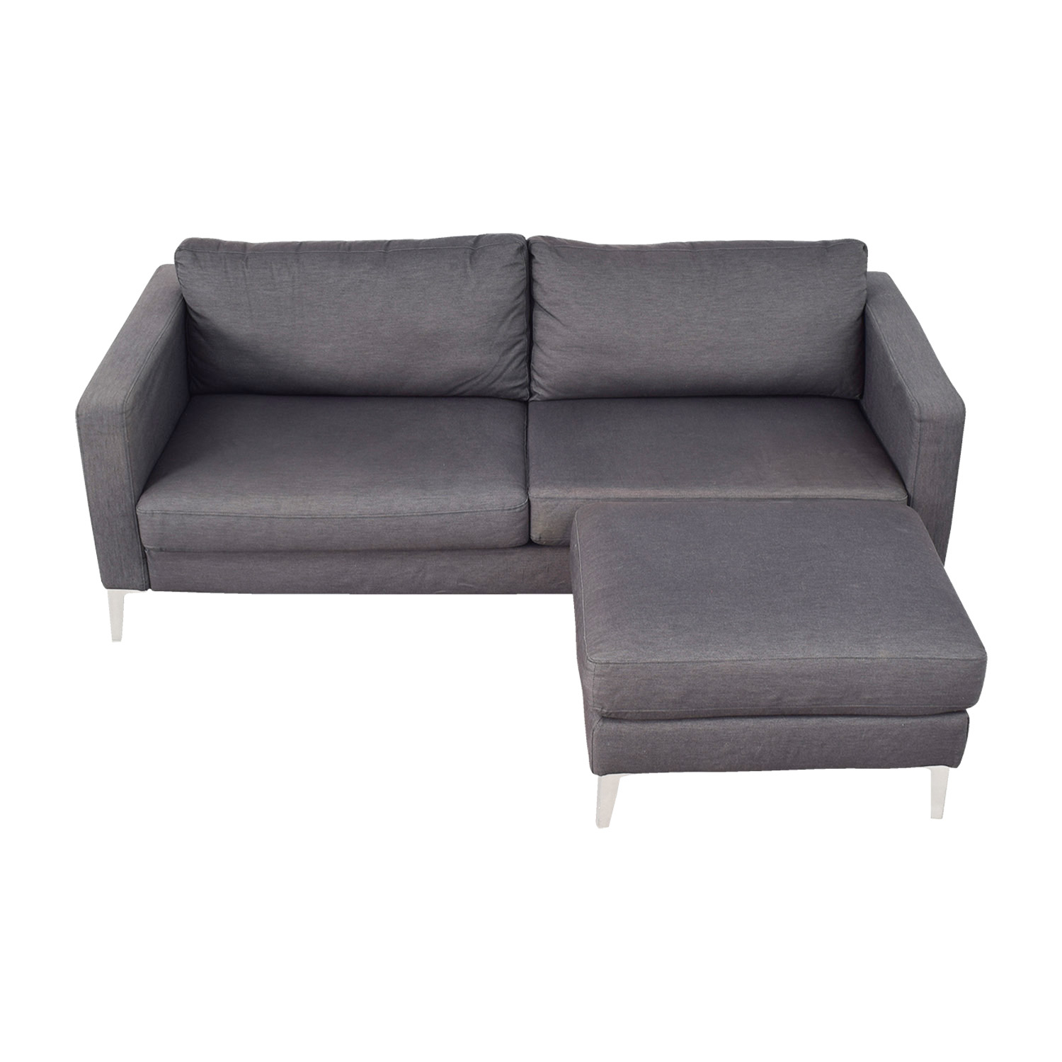 IKEA Karlstad Grey Couch and Ottoman / Sofas