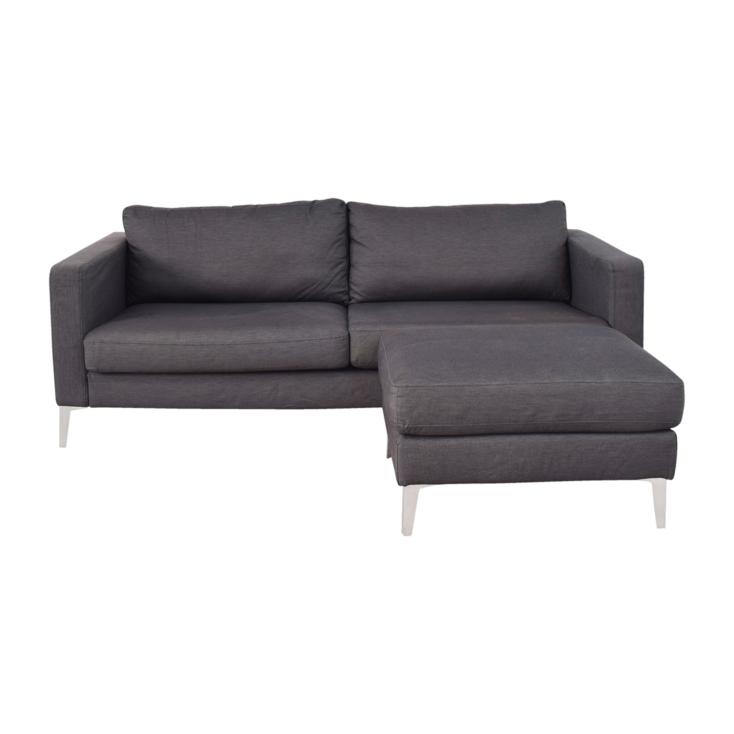 buy IKEA IKEA Karlstad Grey Couch and Ottoman online