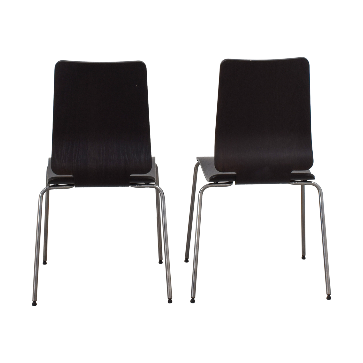 ... IKEA IKEA Black And Chrome Chairs ...