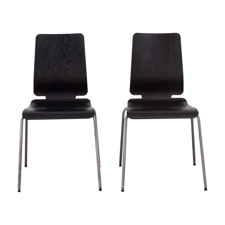 IKEA IKEA Black and Chrome Chairs second hand