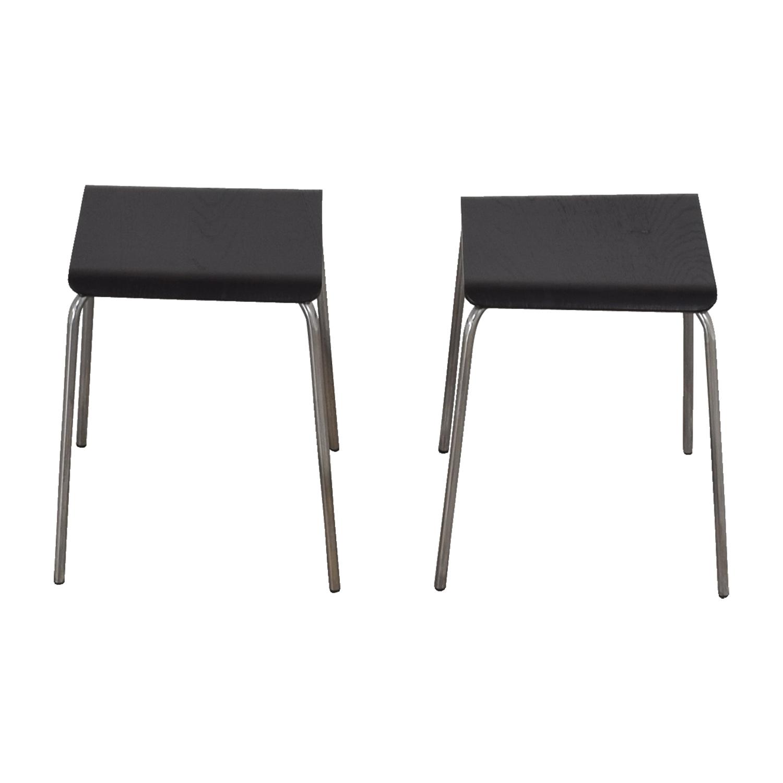 buy IKEA Black and Chrome Stools IKEA Stools
