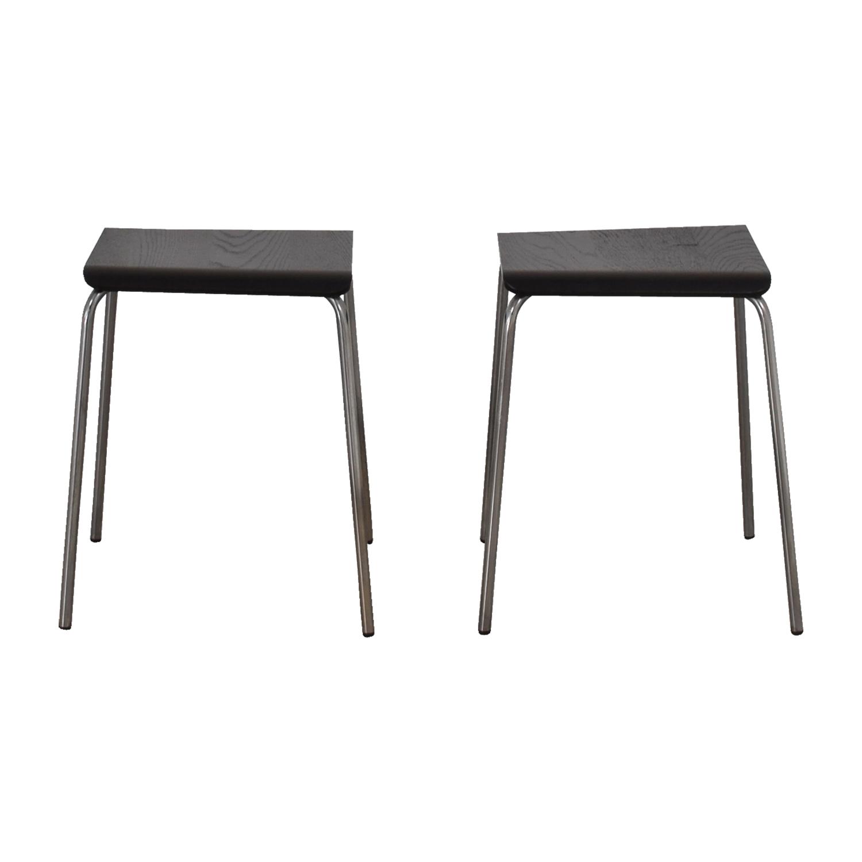 IKEA IKEA Black and Chrome Stools on sale