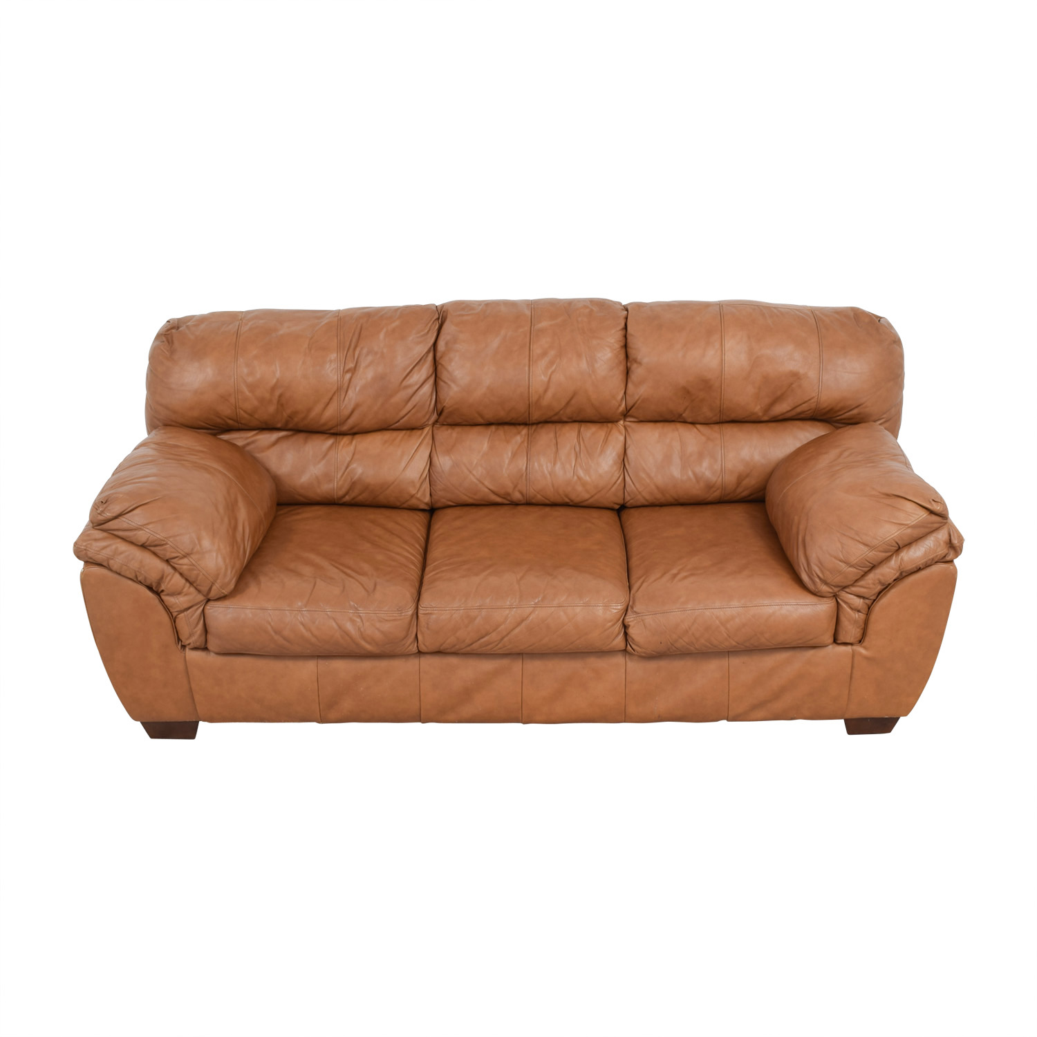 Paprika Leather Three-Cushion Sofa / Classic Sofas