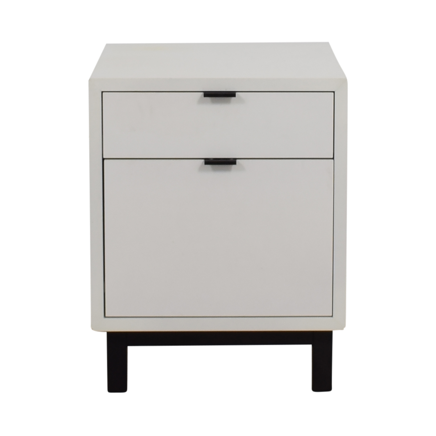 buy Room & Board Copenhagen White Two-Drawer Filing Cabinet Room & Board Filing & Bins