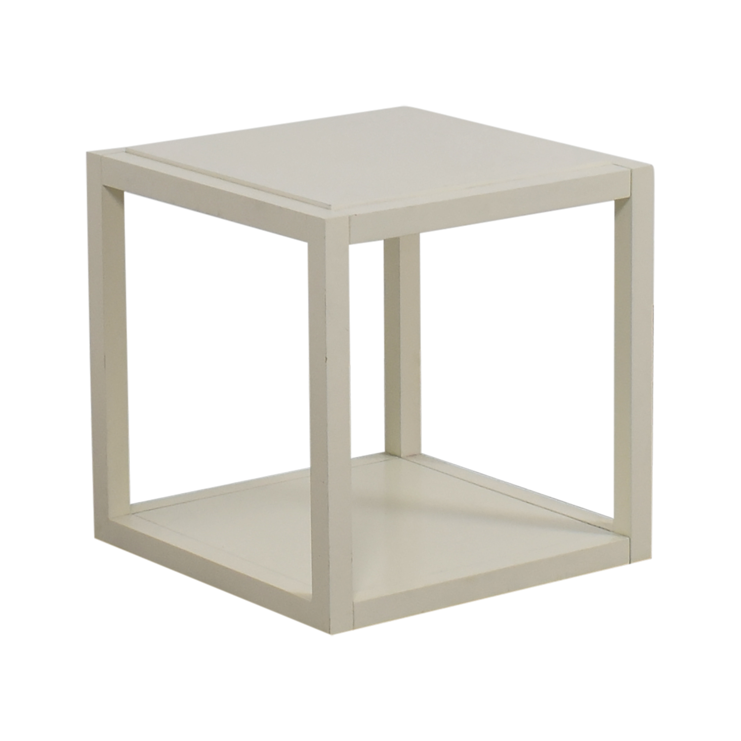 ... CB2 White Low Side Table / End Tables ...