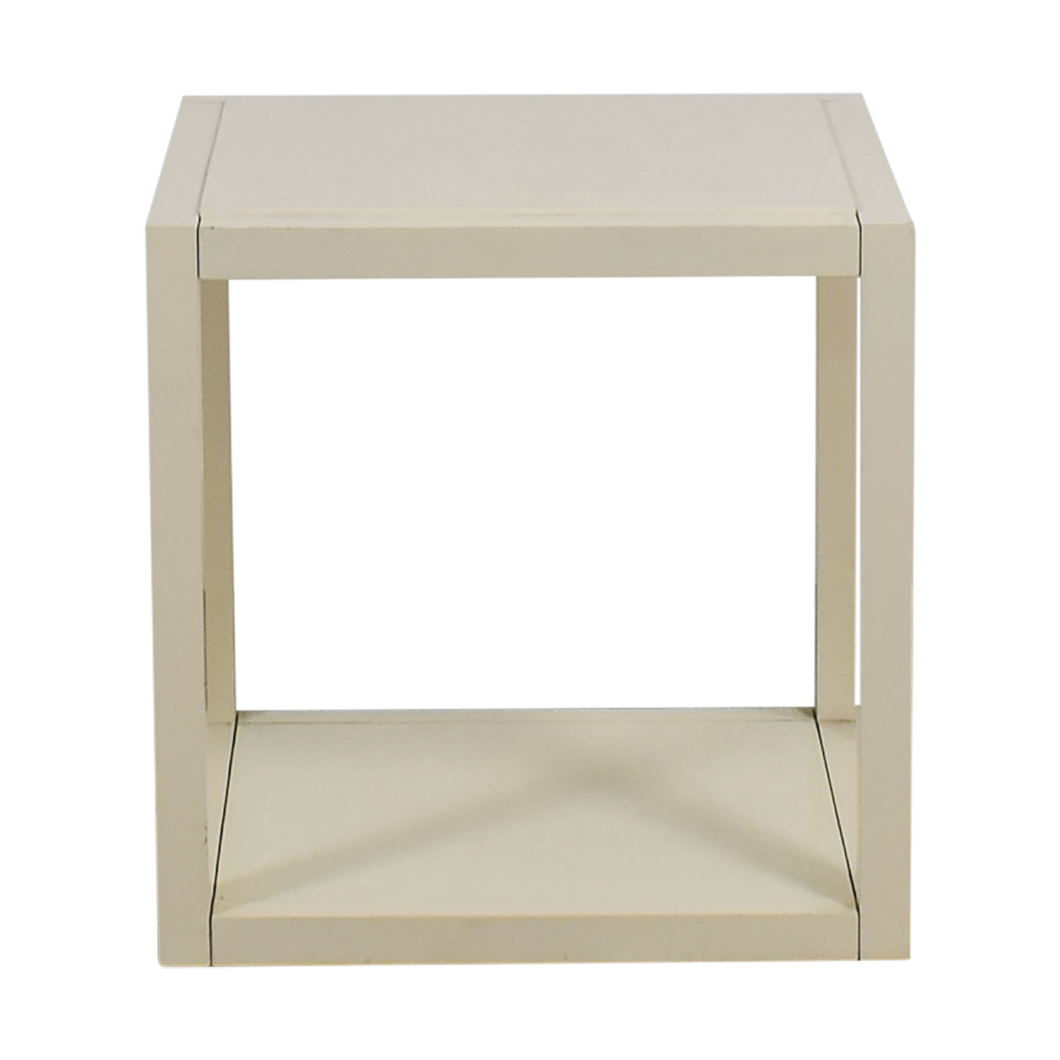 CB2 CB2 White Low Side Table used