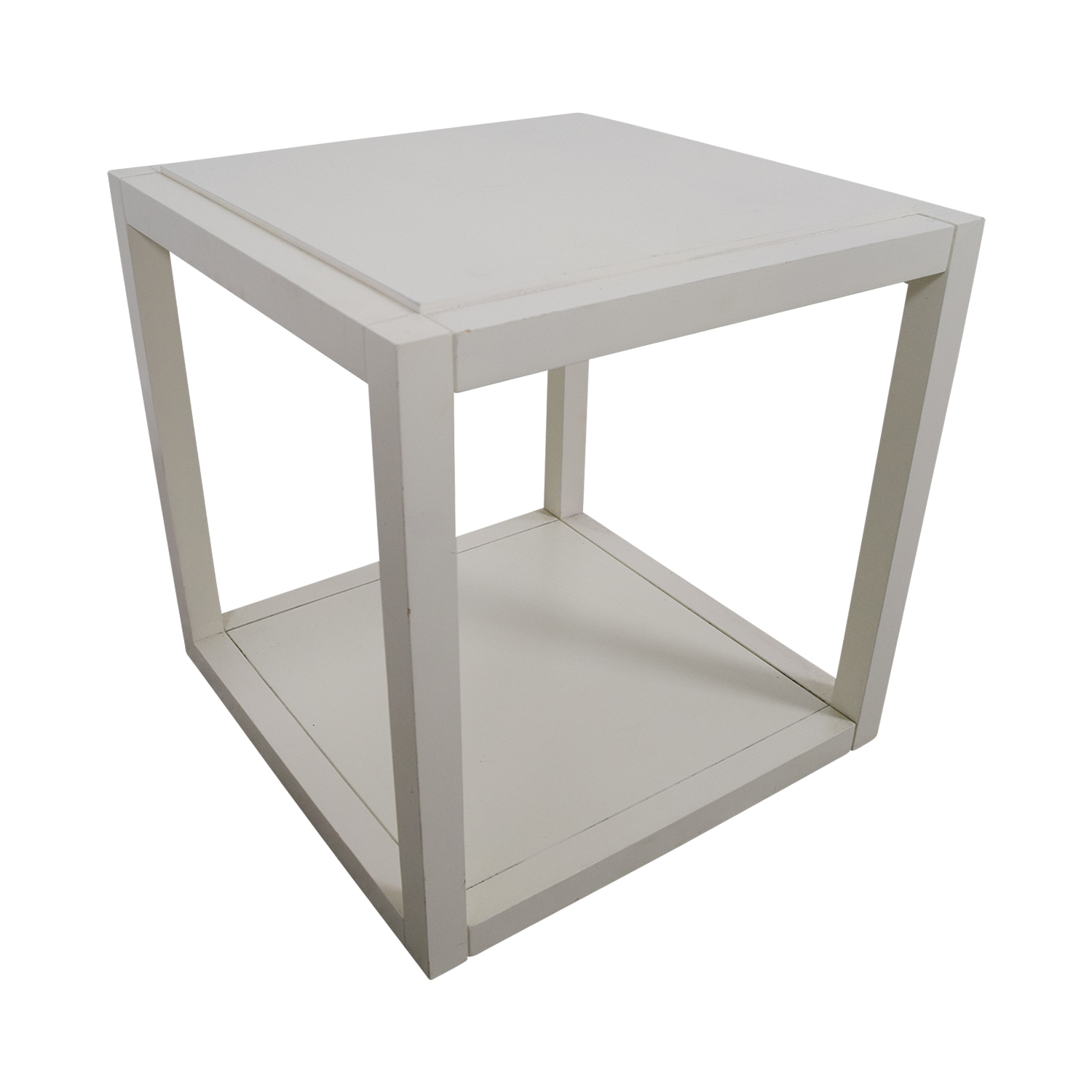 OFF CB CB White Low Side Table Tables - Cb2 outdoor side table