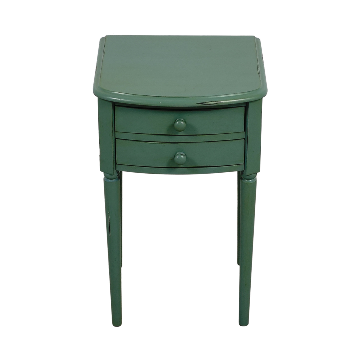 Pottery Barn Vintage Seafoam Nightstand / End Tables