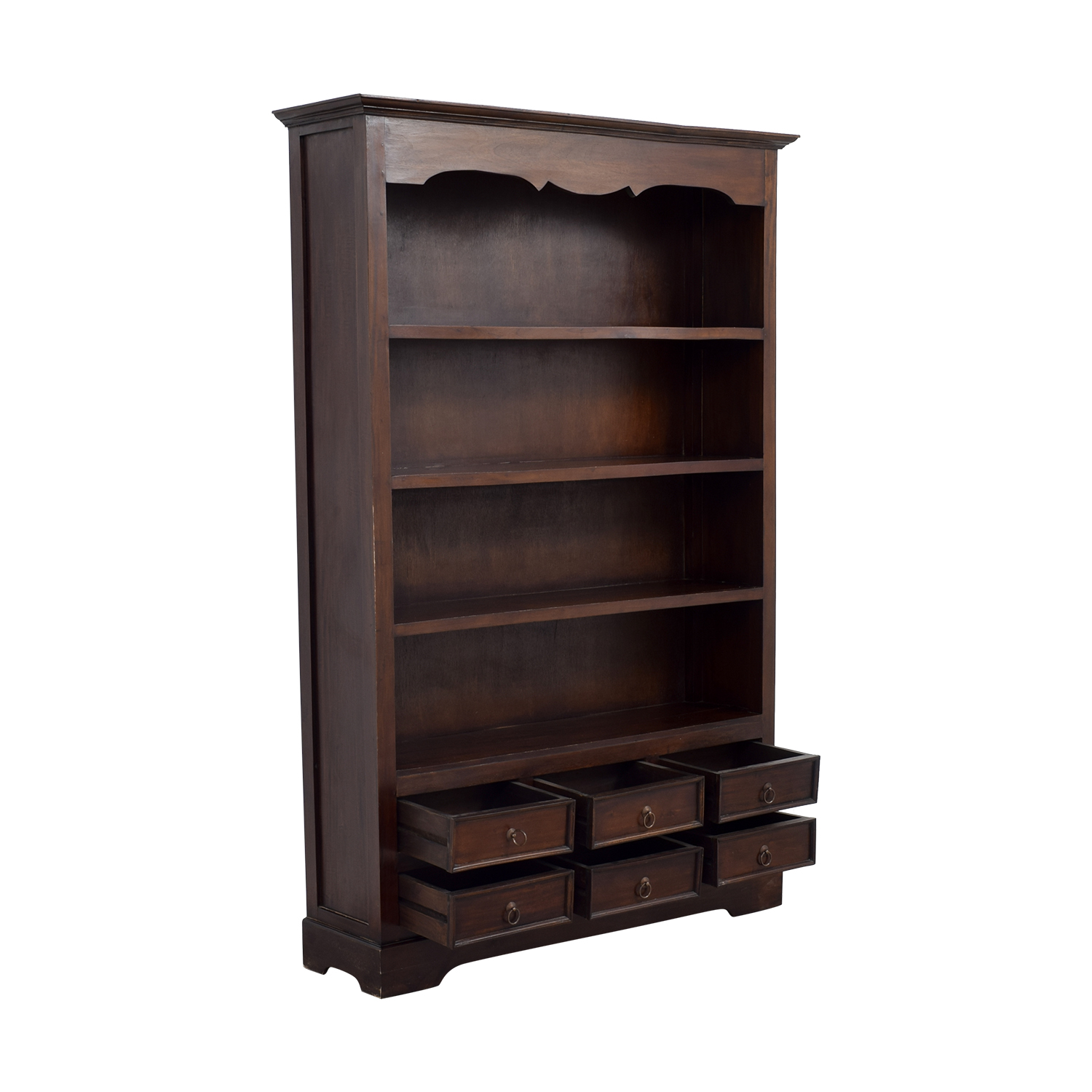 buy Antique Dovetailed Bookcase with Six-Drawers online