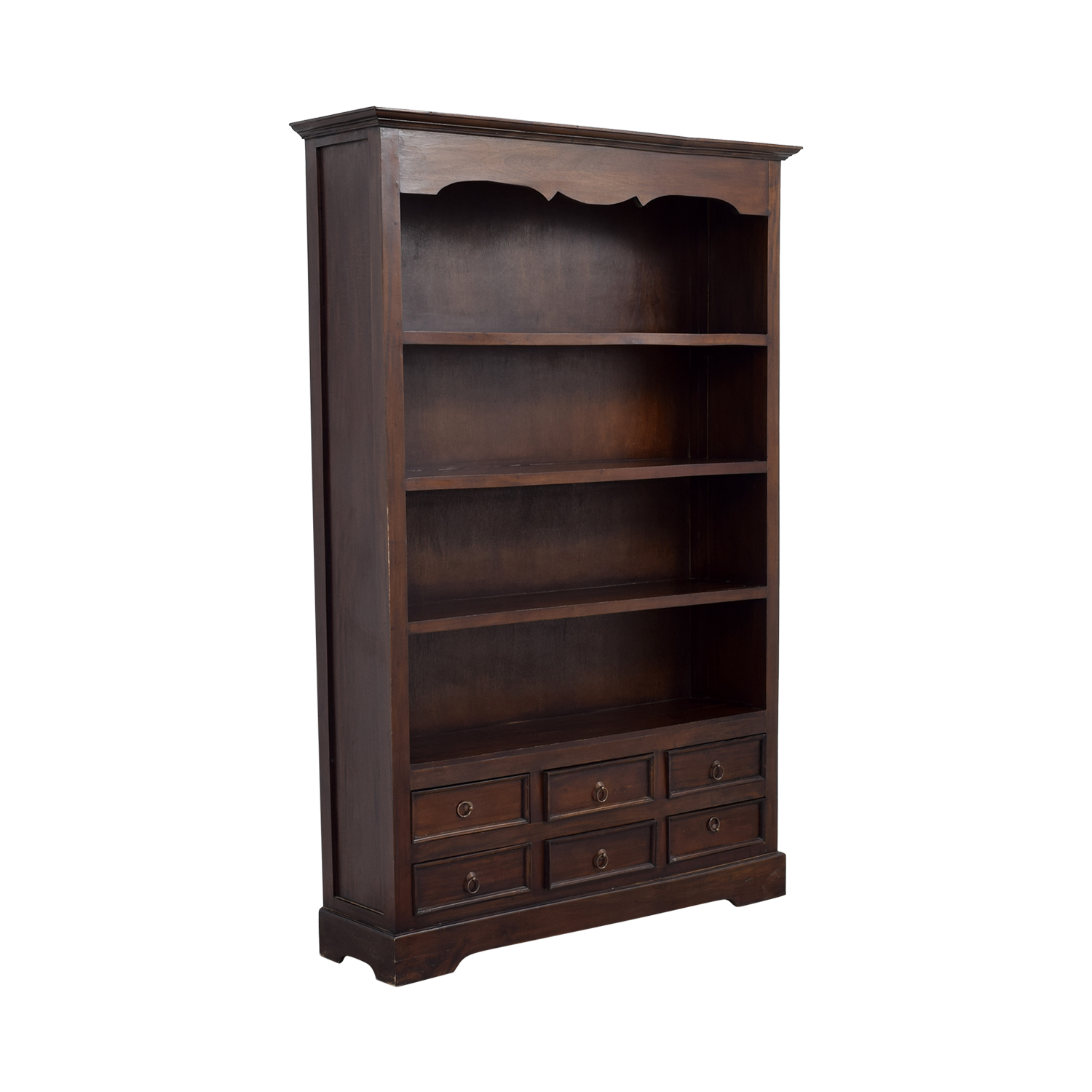 Antique Dovetailed Bookcase with Six-Drawers Bookcases & Shelving