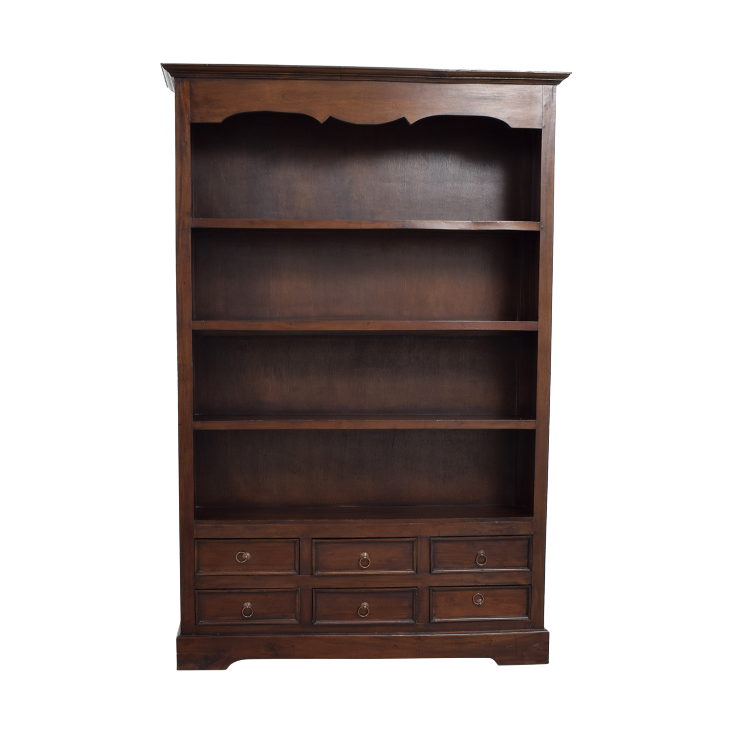 Antique Dovetailed Bookcase with Six-Drawers nj