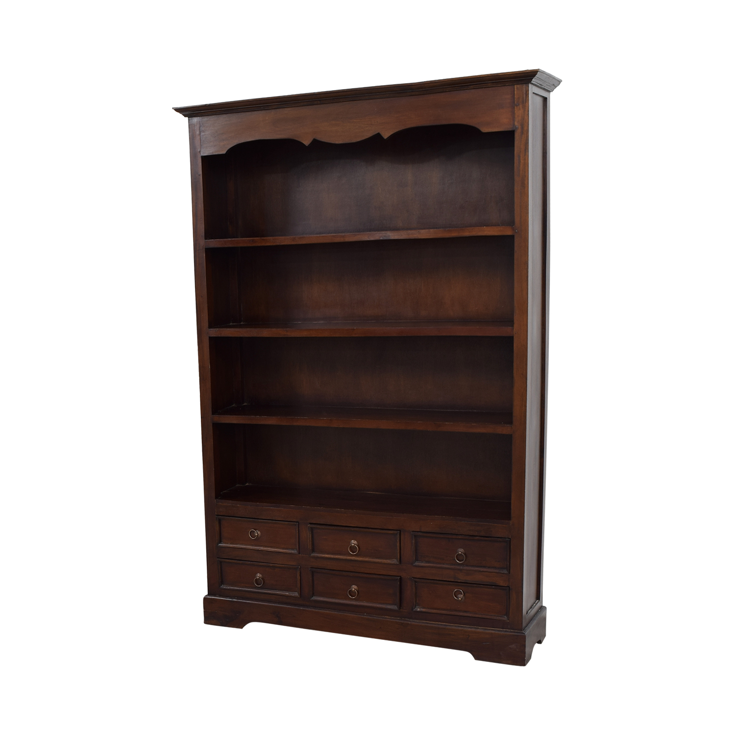 shop Antique Dovetailed Bookcase with Six-Drawers online