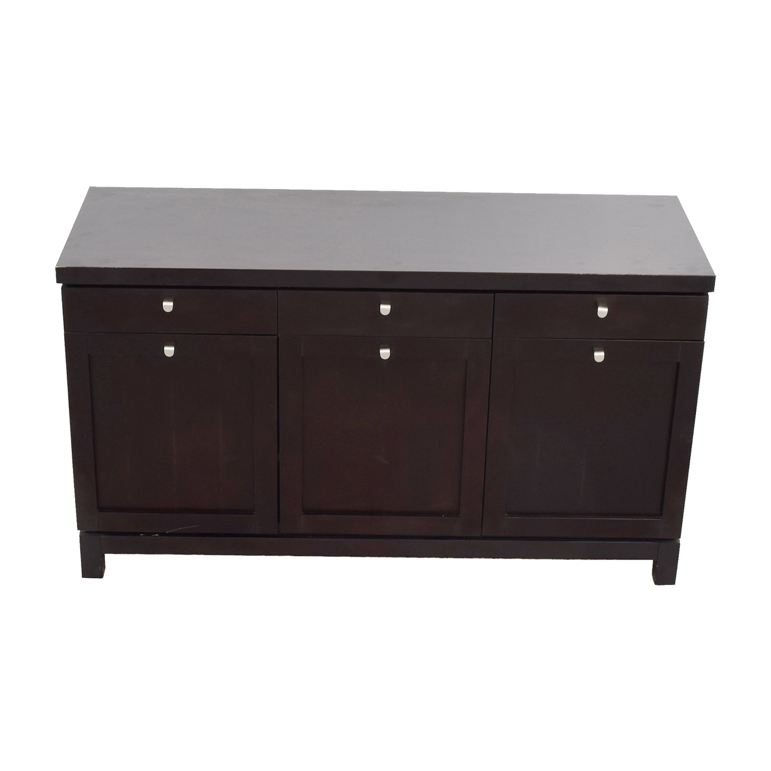 Three-Drawer Media Cabinet with Storage dimensions