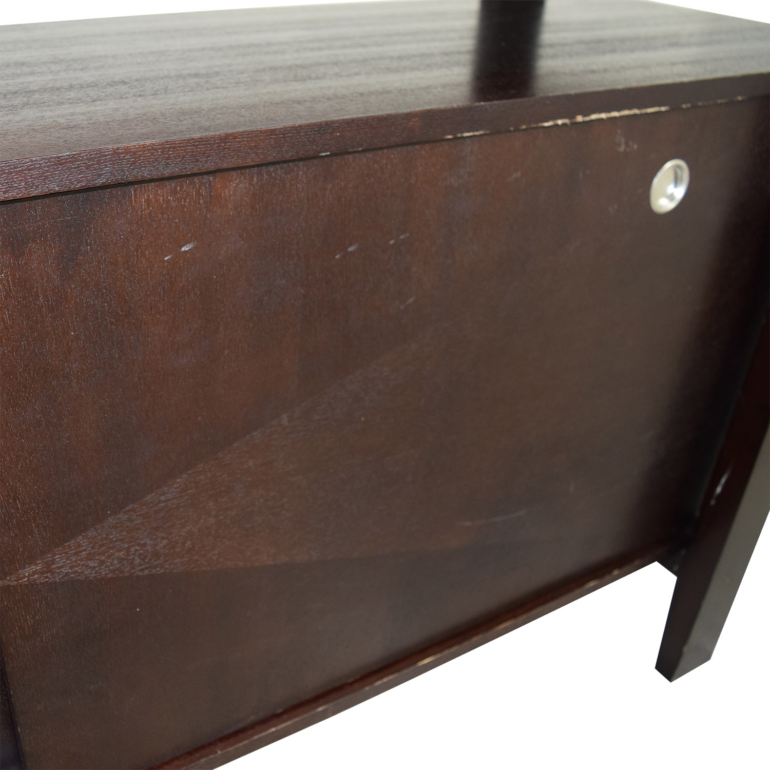 Brown Server with Interior Shelves for sale