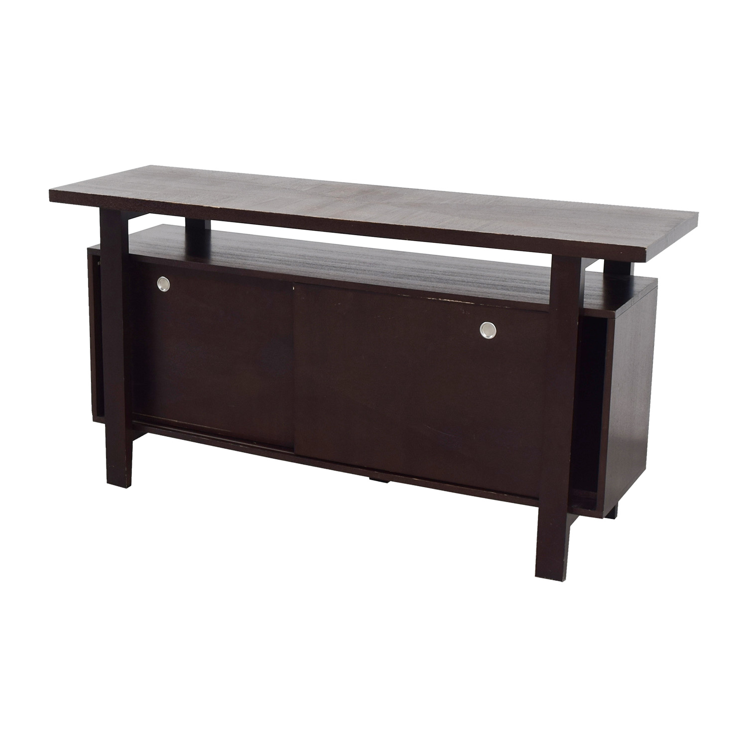 buy Brown Server with Interior Shelves online