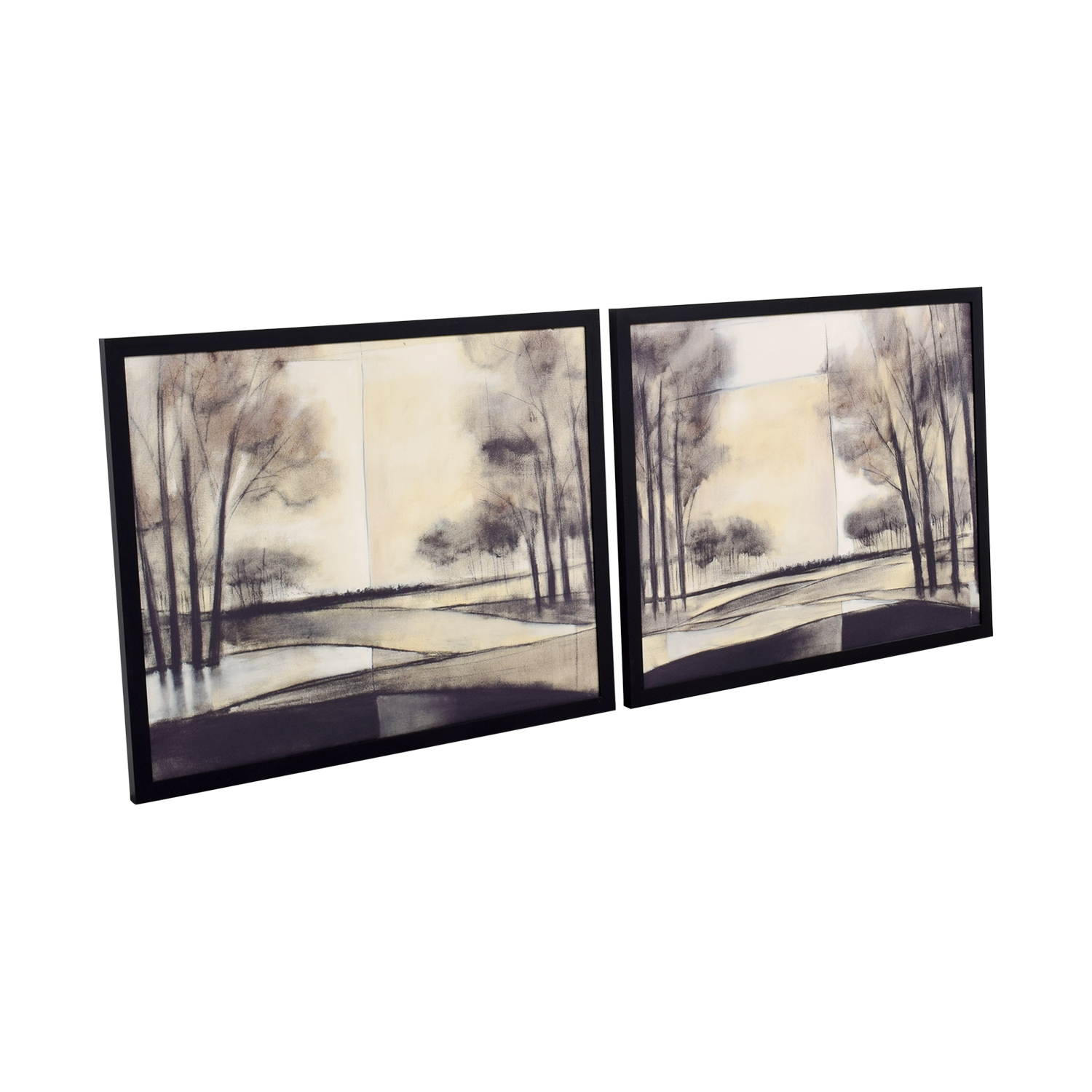 Black and White Scenic Art on Canvas dimensions
