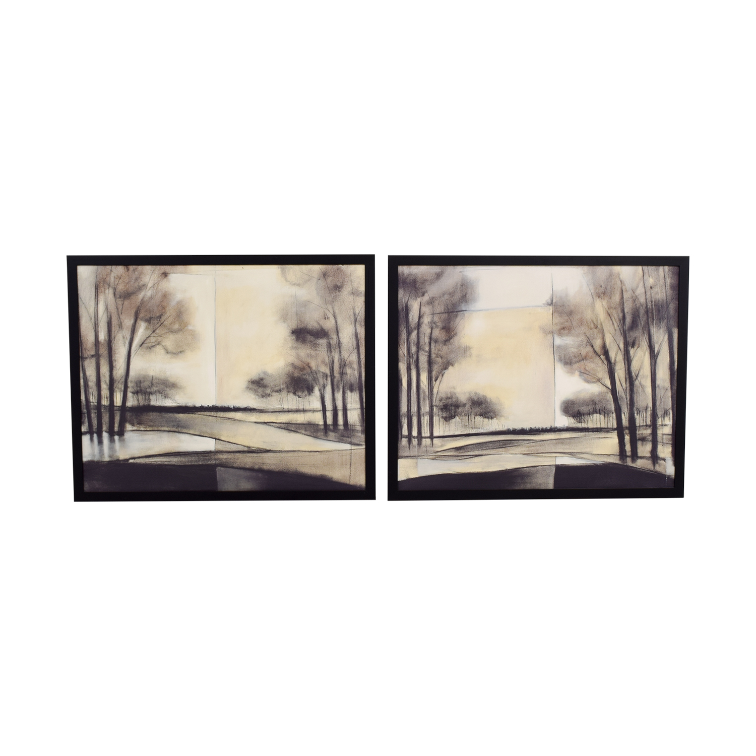 Black and White Scenic Art on Canvas on sale