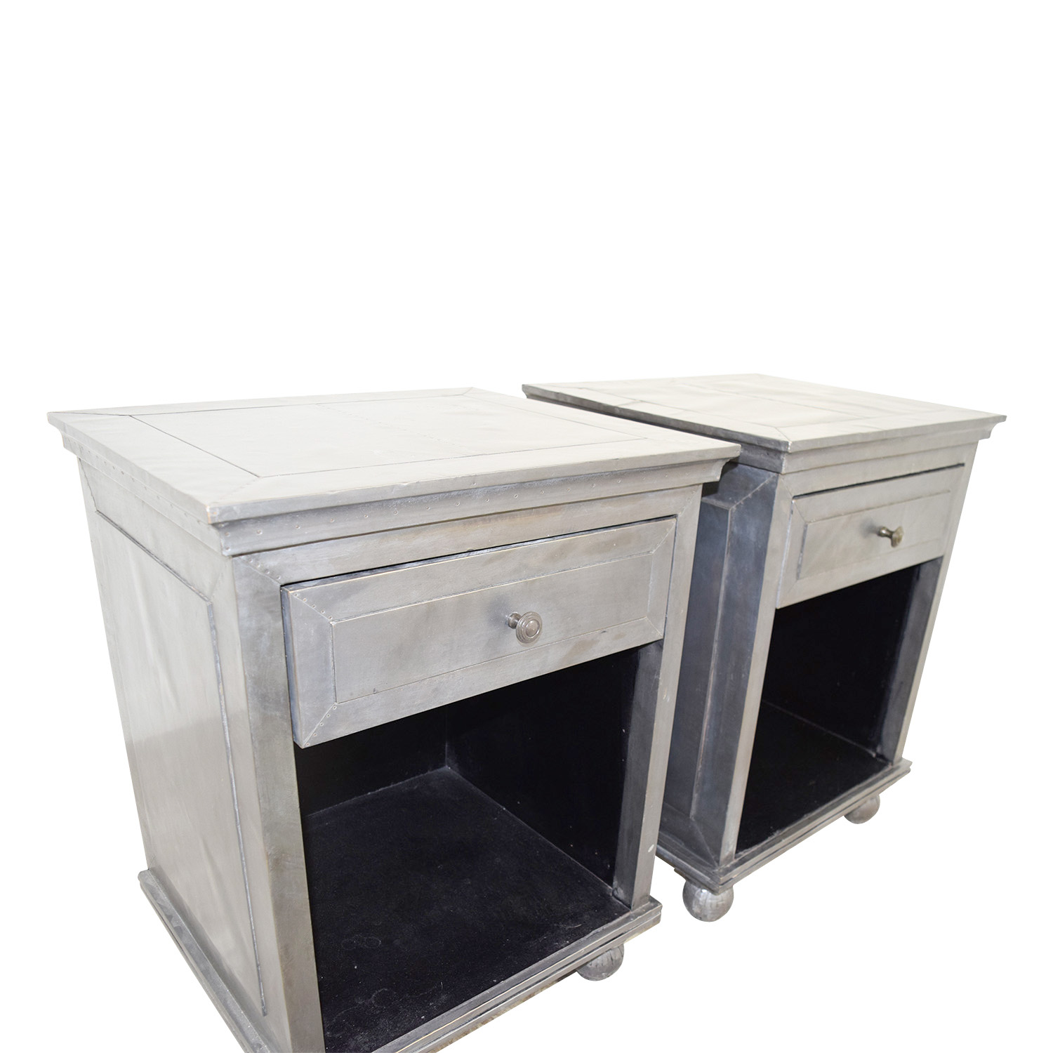 68 Off Restoration Hardware Restoration Hardware Industrial Silver Single Drawer Nightstands Tables
