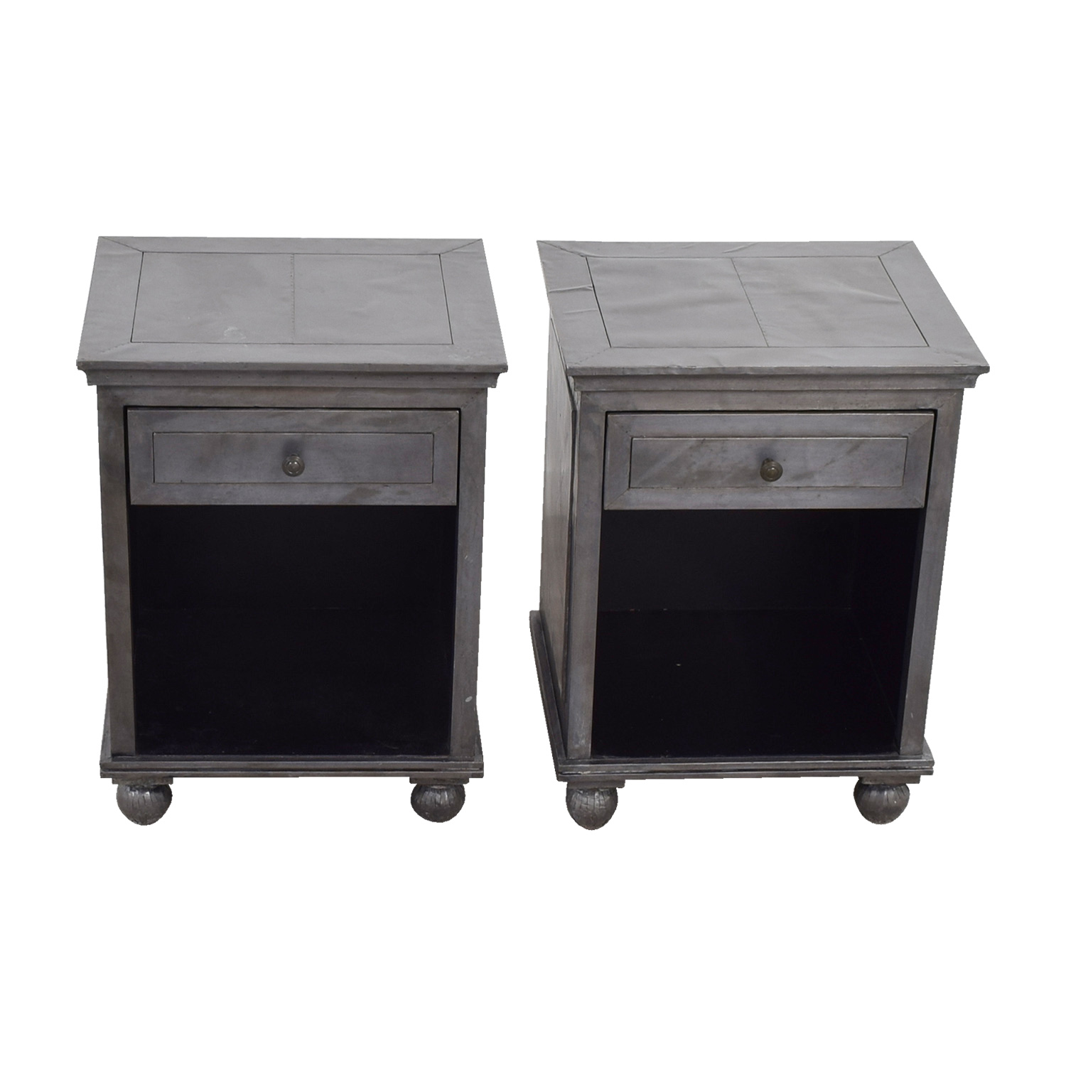 Restoration Hardware Restoration Hardware Industrial Silver Single Drawer Nightstands used