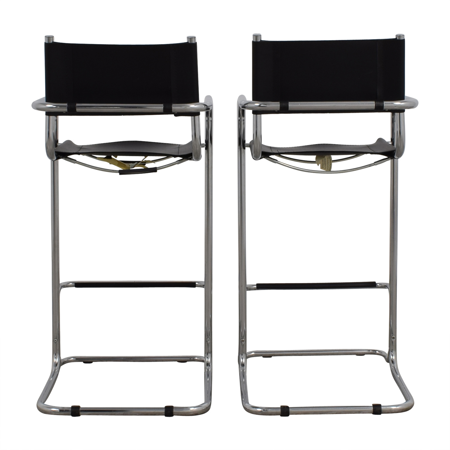 buy Tubular Black and Steel Bar Stools online