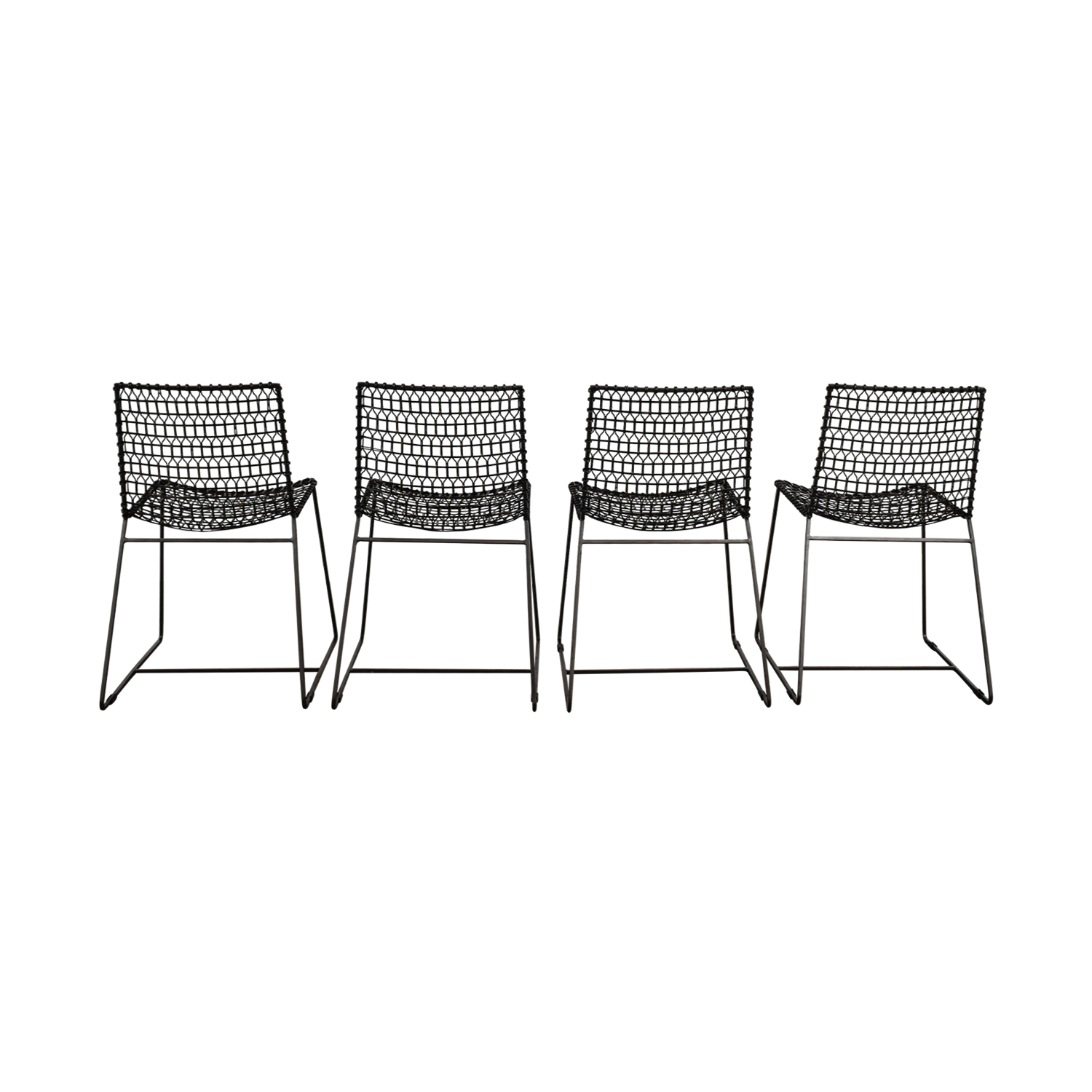 Crate & Barrel Metal Chairs / Chairs