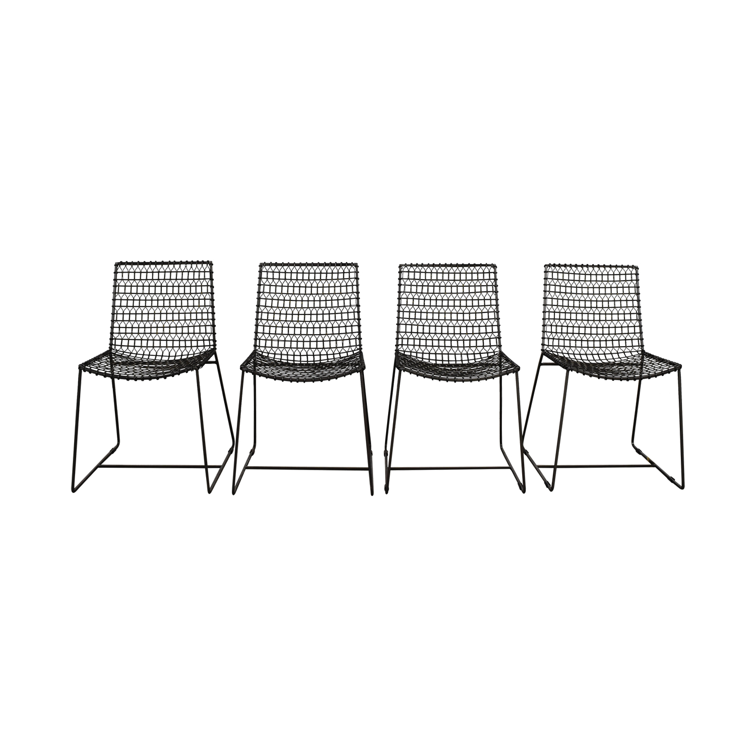 Crate & Barrel Metal Chairs / Dining Chairs