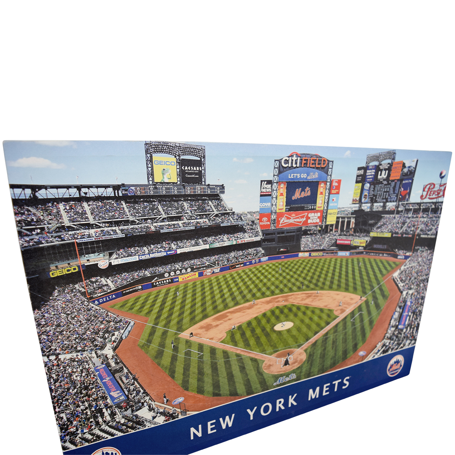 shop MLB New York Mets Stadium Team Print MLB