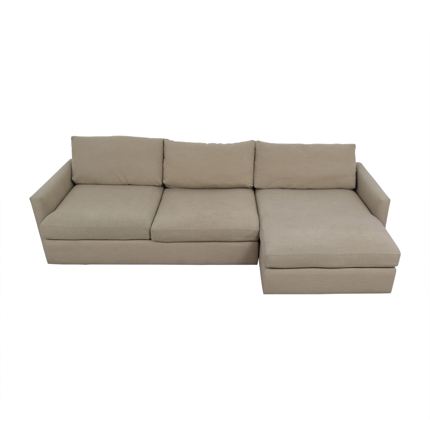 Crate & Barrel Lounge II Beige Sectional / Sofas