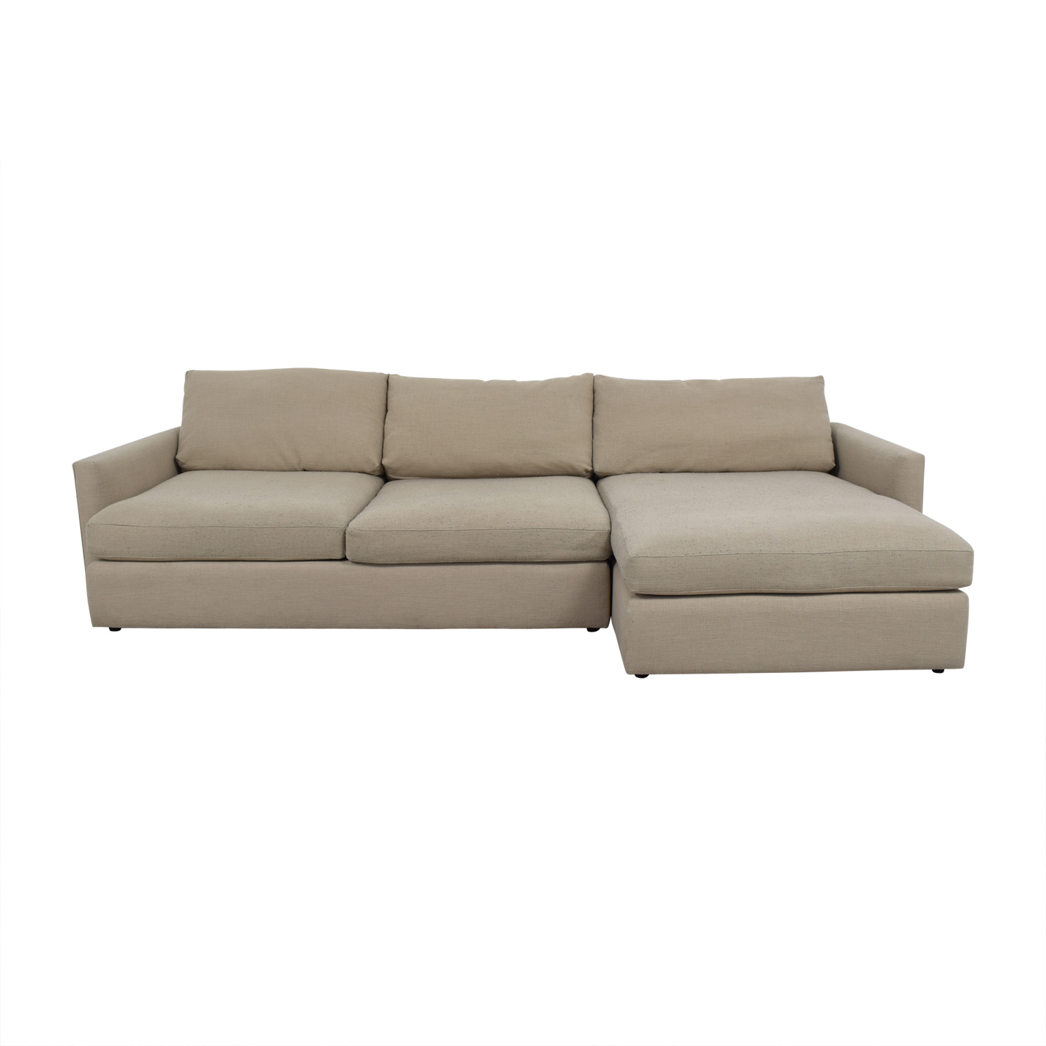 Crate & Barrel Crate & Barrel Lounge II Beige Sectional second hand