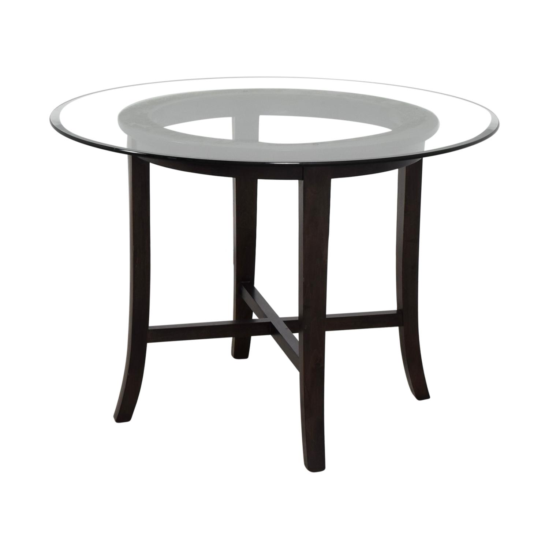 Crate Barrel Halo Ebony Dining Table