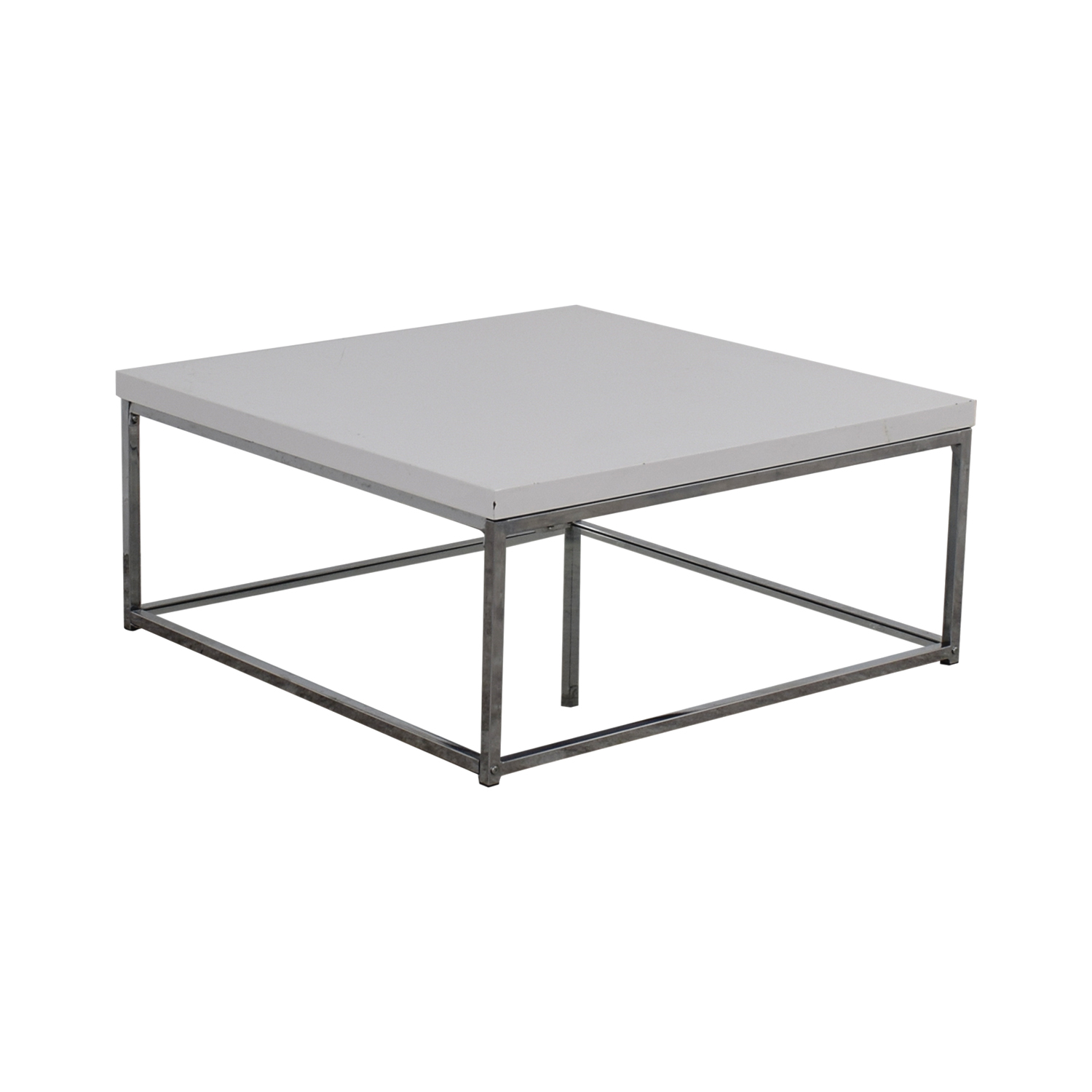 Safavieh Malone White Square Coffee Table Used