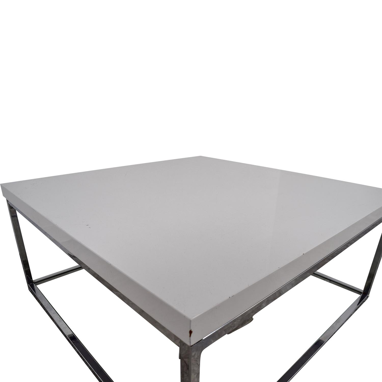 Safavieh Malone White Square Coffee Table