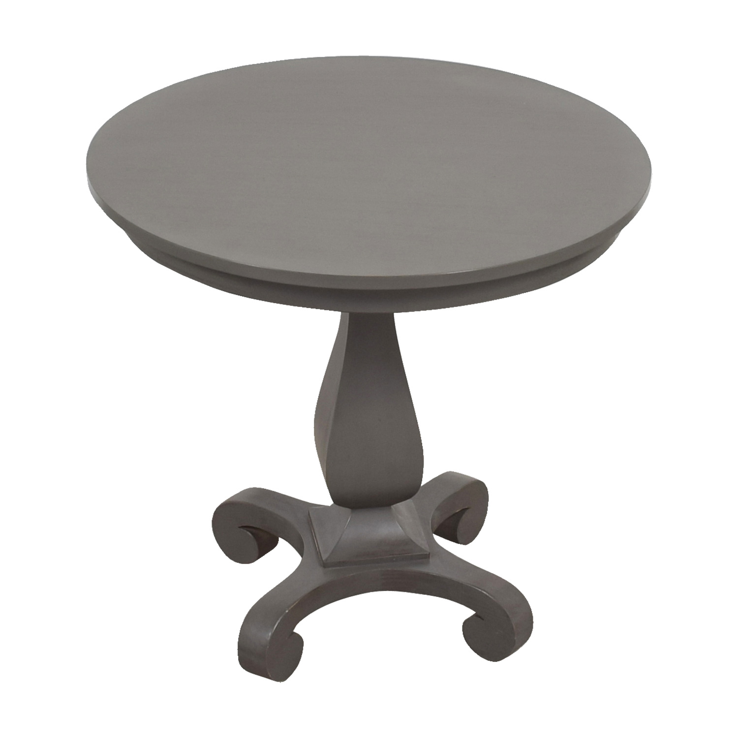 Crate & Barrel Crate & Barrel Round Grey Dining Table for sale