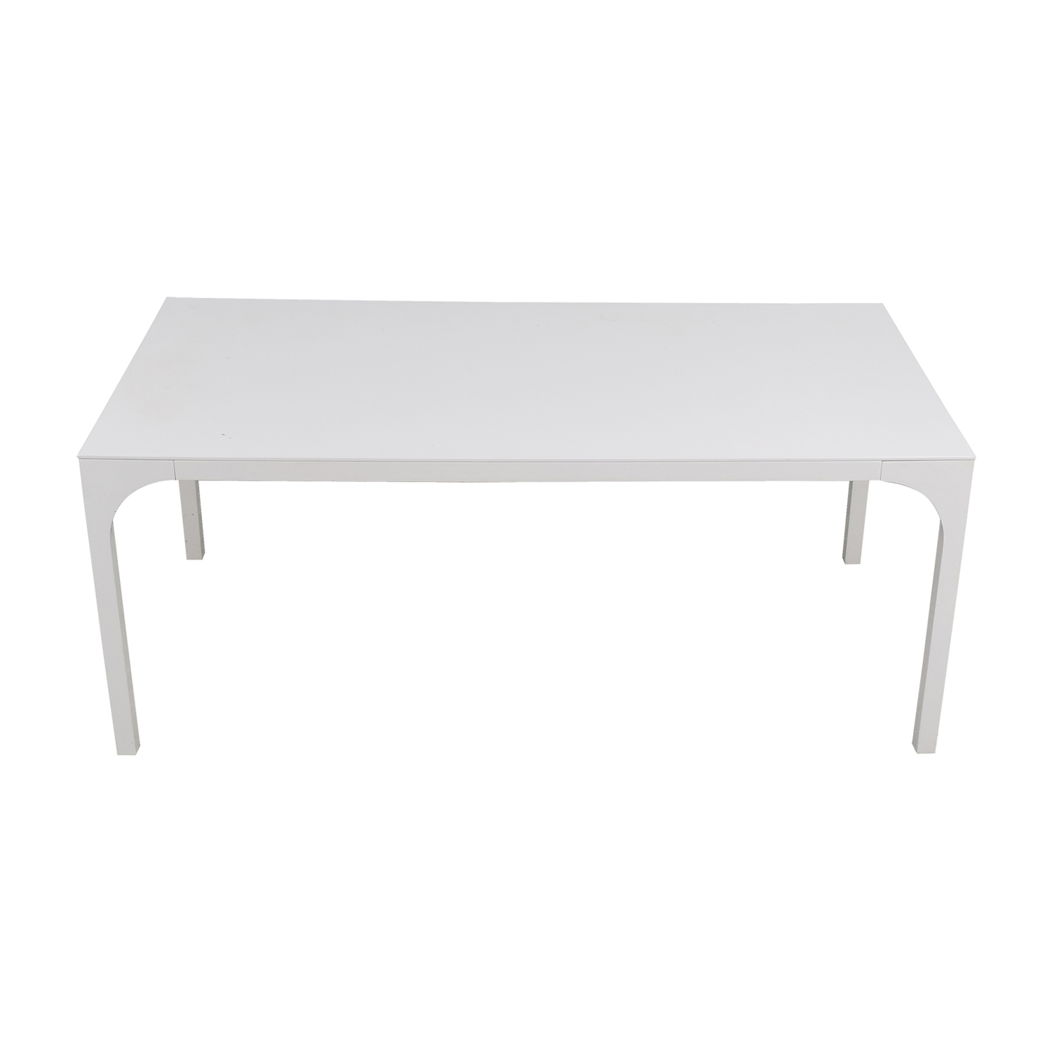 CB2 CB2 Aqua Virgo White Dining Table Tables