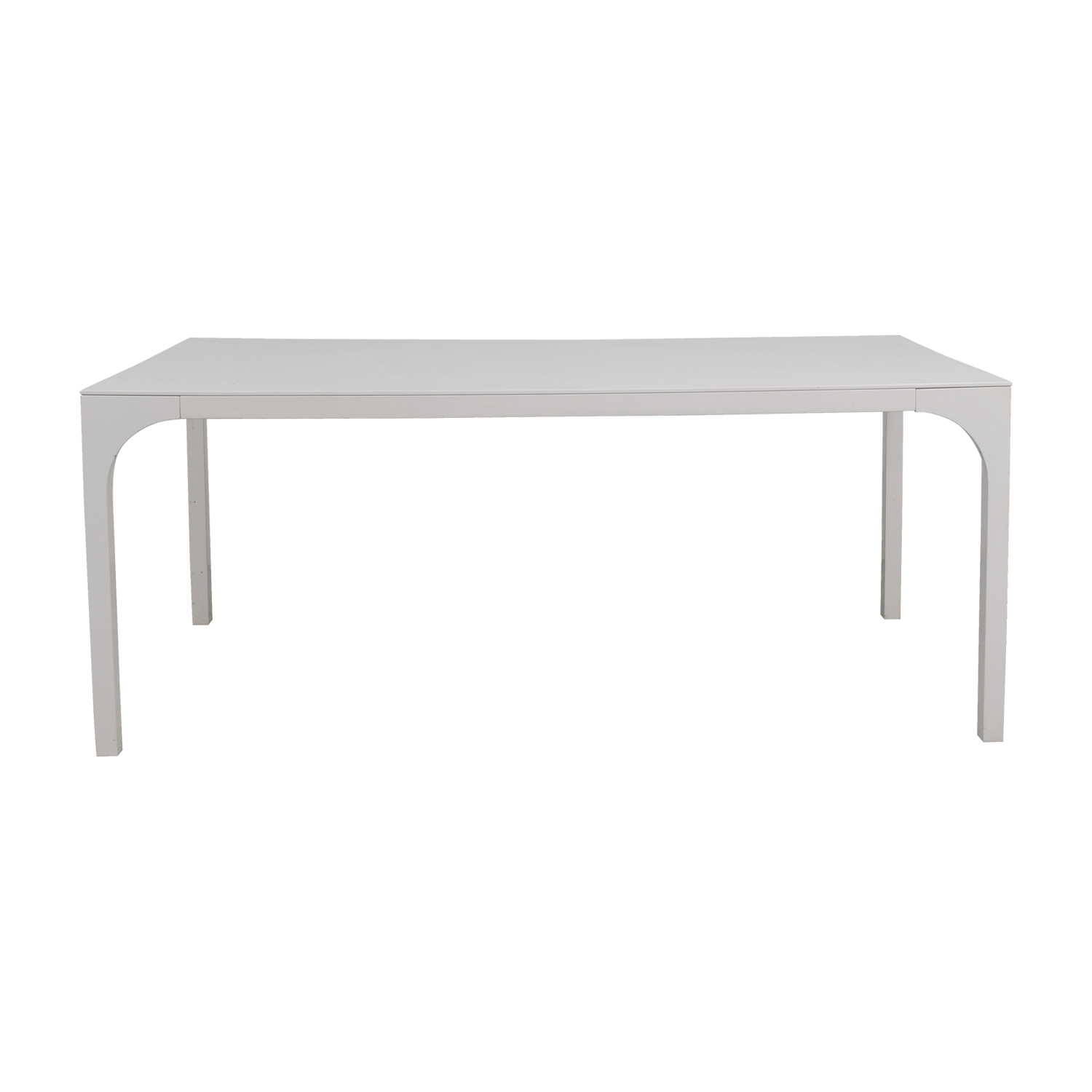 CB2 CB2 Aqua Virgo White Dining Table on sale