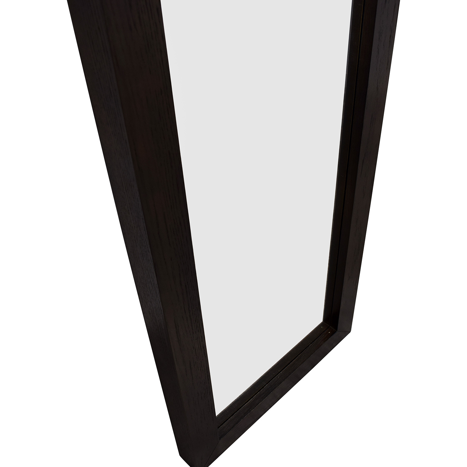 72% OFF - West Elm West Elm Floating Wood Floor Mirror / Decor