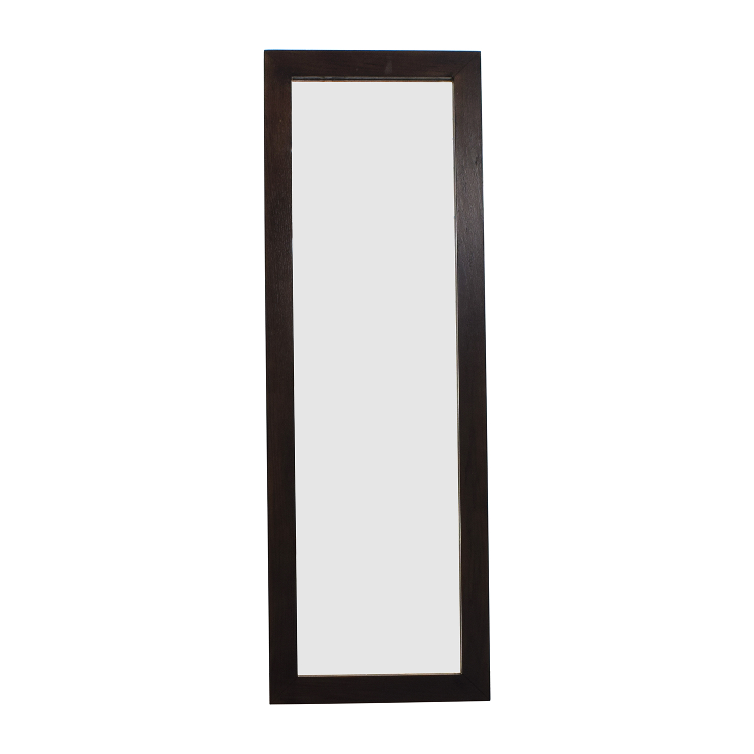 West Elm Floating Wood Floor Mirror sale