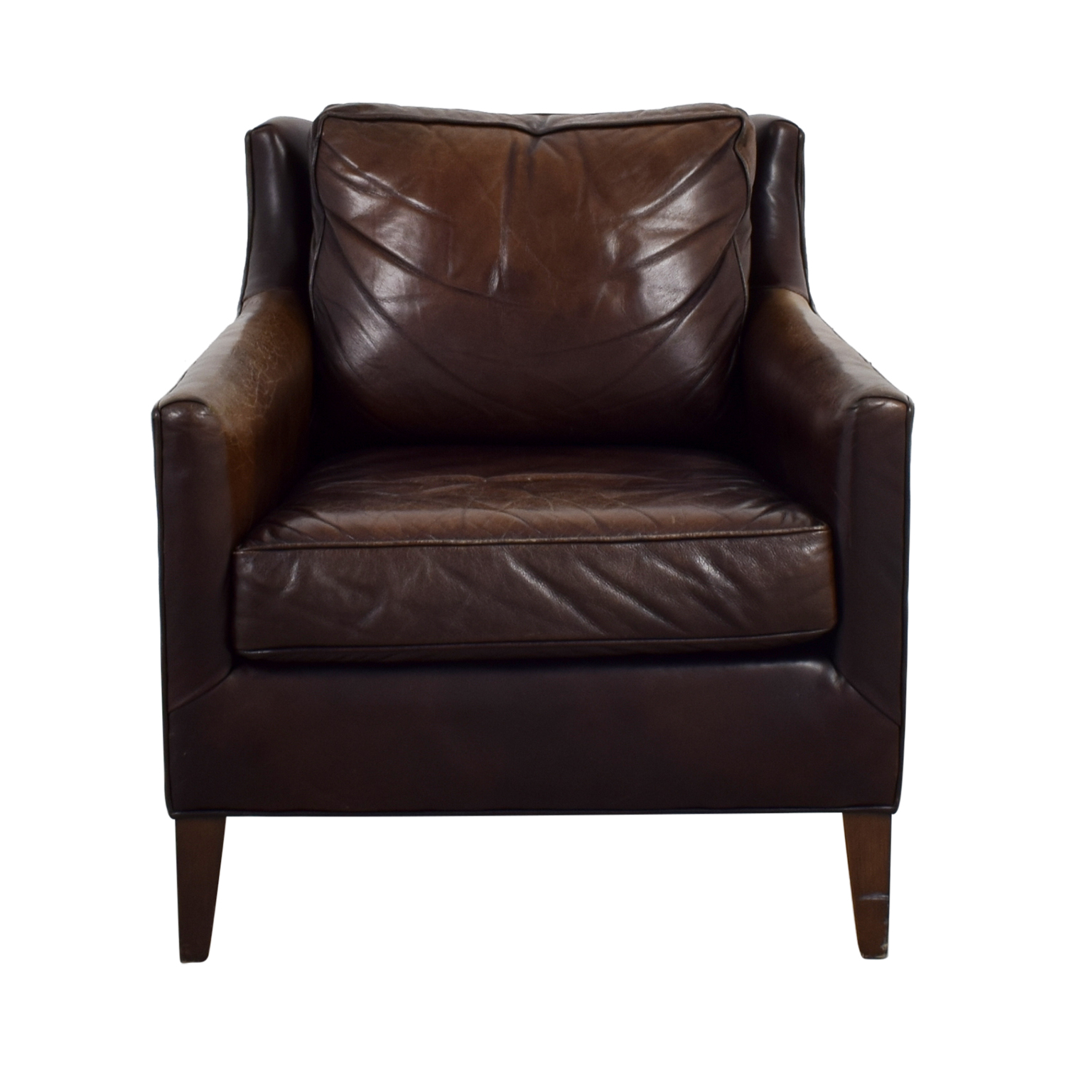 62 Off Pottery Barn Pottery Barn Brown Leather Armchair